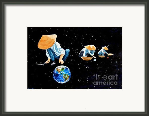 The Grass Is Always Greener On The Other Side Of Uranus Framed Print By Pauline Ross