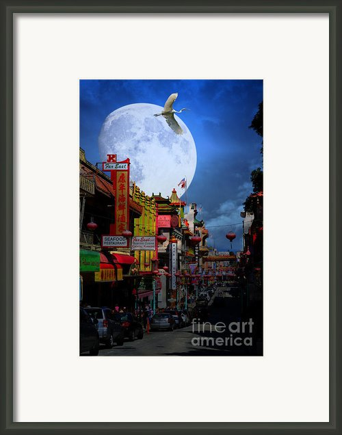 The Great White Phoenix Of Chinatown . 7d7172 Framed Print By Wingsdomain Art And Photography