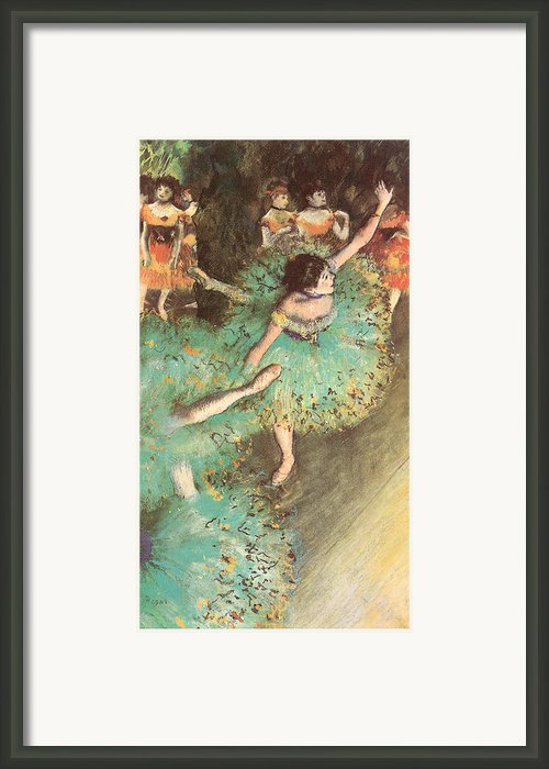 The Green Dancer Framed Print By Edgar Degas
