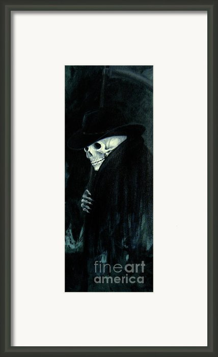 The Grim Reaper Framed Print By Barbara Marcus