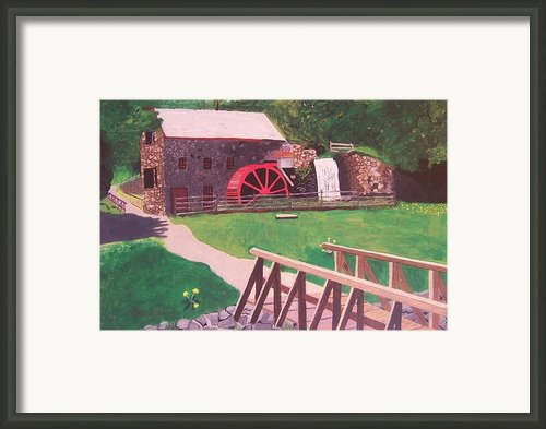 The Gristmill At Wayside Inn Framed Print By William Demboski