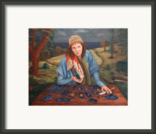 The Gypsy Fortune Teller Framed Print By Enzie Shahmiri