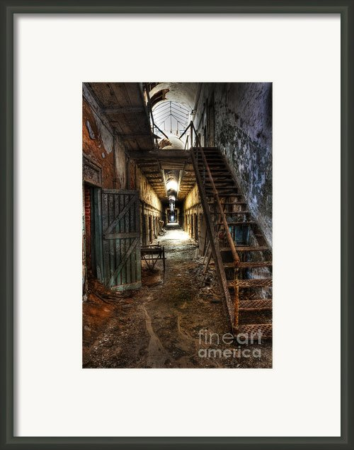 The Hallway Of Broken Dreams - Eastern State Penitentiary - Lee Dos Santos Framed Print By Lee Dos Santos