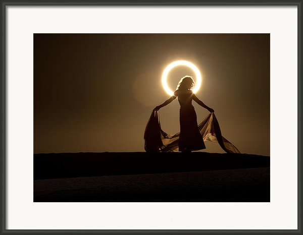 The Halo Framed Print By Dario Infini
