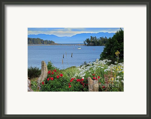 The Harbor At Sooke Framed Print By Louise Heusinkveld