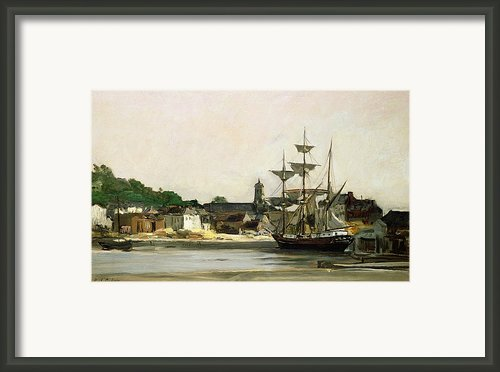 The Harbour At Honfleur Framed Print By Karl Pierre Daubigny