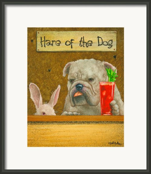 The Hare Of The Dog...the Bullgog... Framed Print By Will Bullas
