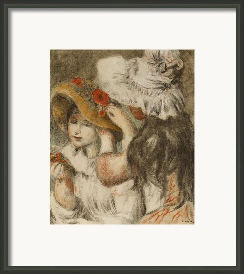 The Hatpin Framed Print By  Pierre Auguste Renoir