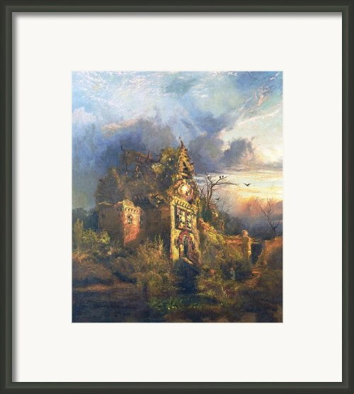The Haunted House Framed Print By Thomas Moran