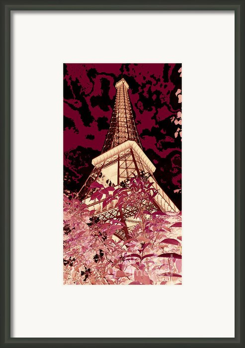 The Heart Of Paris - Digital Painting Framed Print By Carol Groenen