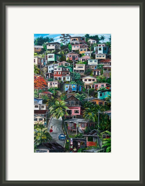 The Hill     Trinidad  Framed Print By Karin Best