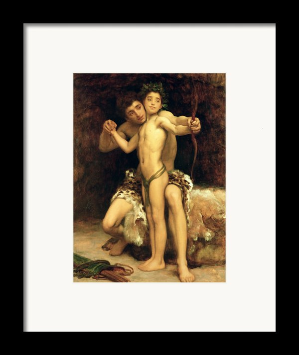 The Hit Framed Print By Frederic Leighton