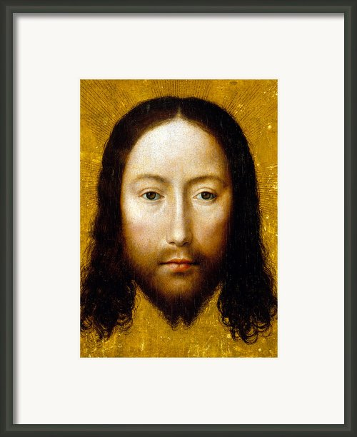 The Holy Face Framed Print By Flemish School