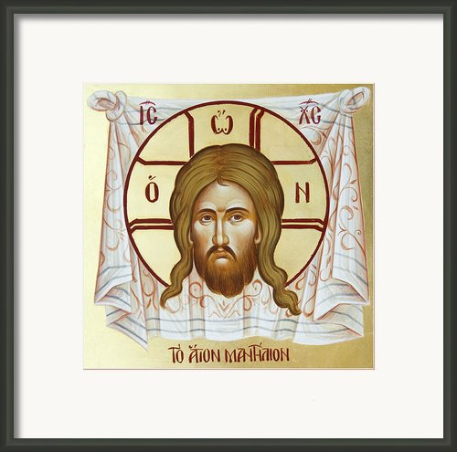 The Holy Napkin  Framed Print By Julia Bridget Hayes