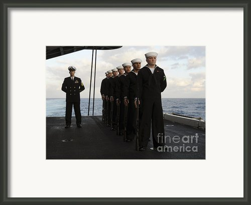 The Honor Guard Stands At Parade Rest Framed Print By Stocktrek Images