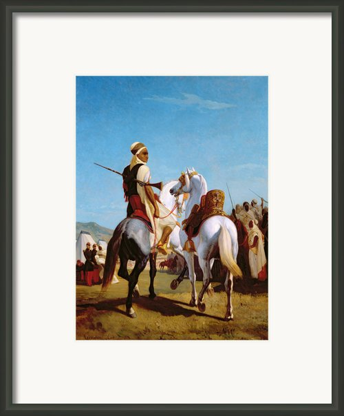 The Horse Of Submission Framed Print By Louis Eugene Ginain