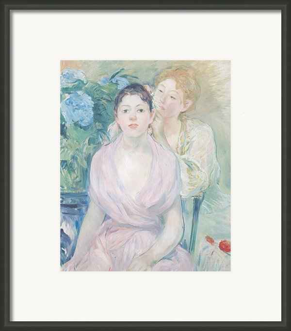 The Hortensia Framed Print By Berthe Morisot
