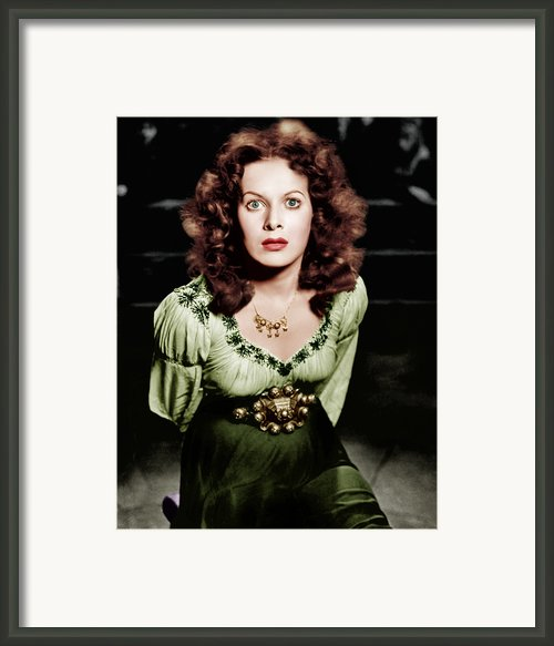 The Hunchback Of Notre Dame, Maureen Framed Print By Everett
