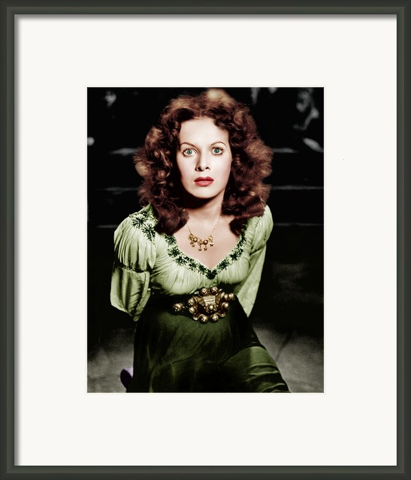 The Hunchback Of Notre Dame, Maureen Framed Print By Everett