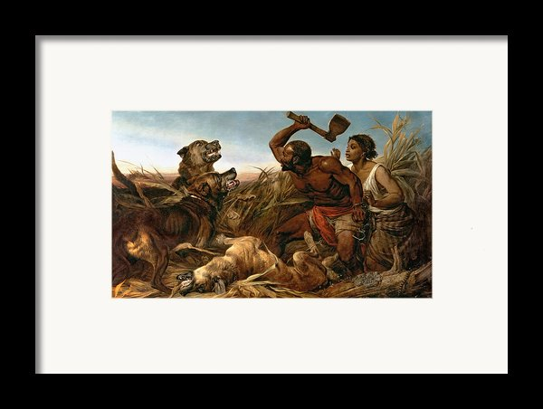 The Hunted Slaves Framed Print By Richard Ansdell