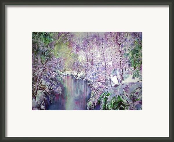 The Ice Storm  Framed Print By June Conte  Pryor