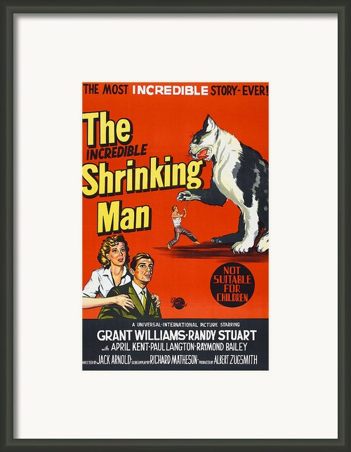 The Incredible Shrinking Man, Bottom Framed Print By Everett