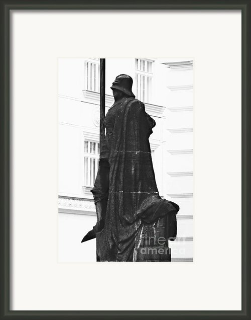 The Iron Knight - Darth Vader Watches Over Prague Cz Framed Print By Christine Till