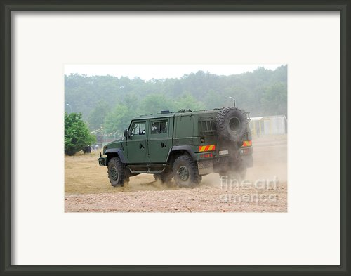 The Iveco Light Multirole Vehicle Framed Print By Luc De Jaeger
