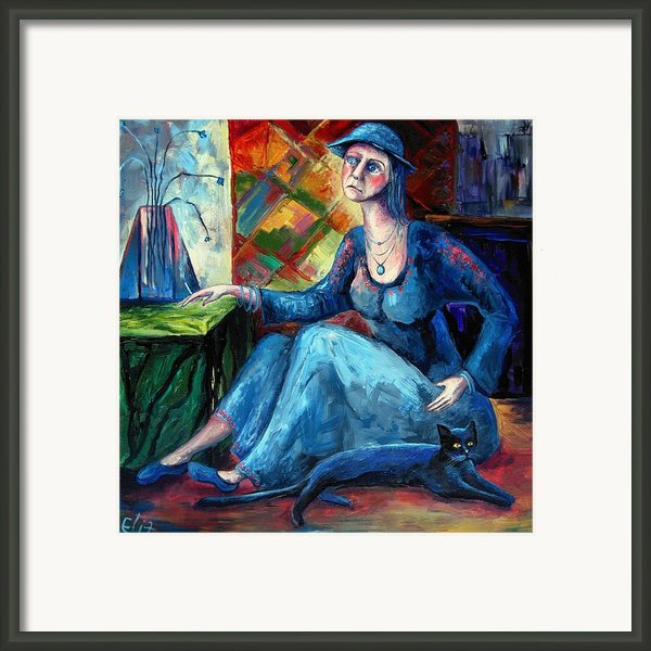 The Jeans Girl. 20 Years Later Framed Print By Elisheva Nesis
