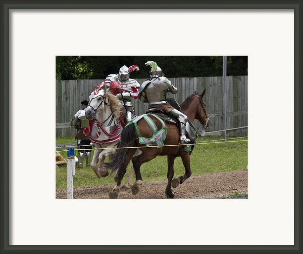 The Joust I Framed Print By Charles Warren