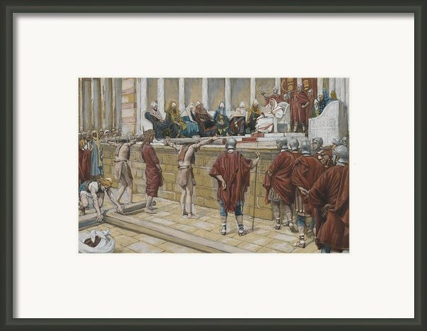 The Judgement On The Gabbatha Framed Print By Tissot