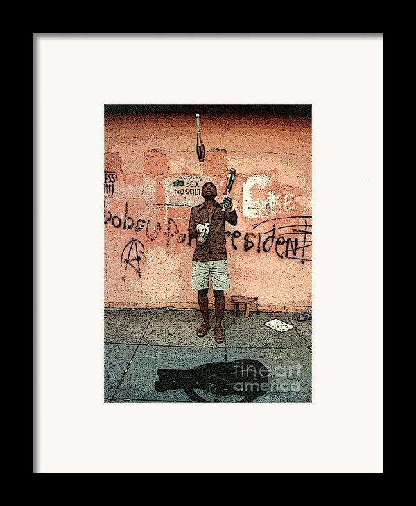 The Juggler Framed Print By Walter Oliver Neal