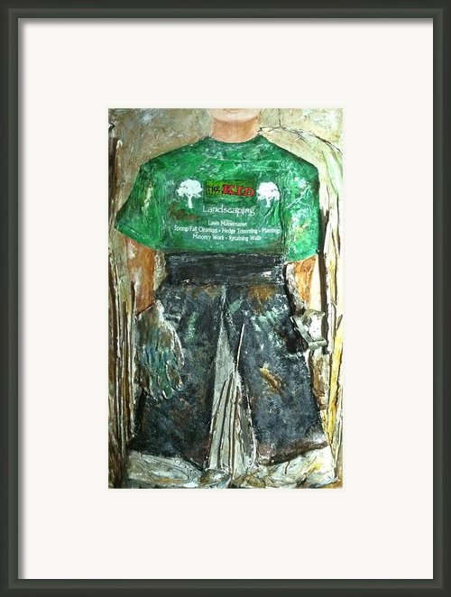 The Kid Lanscaper Framed Print By Helen Wendle