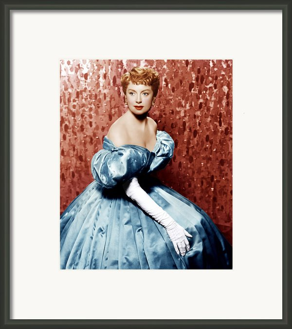 The King And I, Deborah Kerr, 1956 Framed Print By Everett