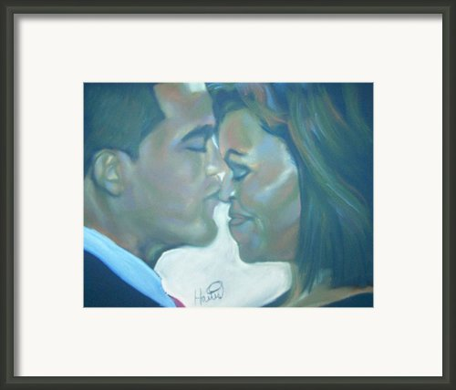 The Kiss Framed Print By Kevin Harris