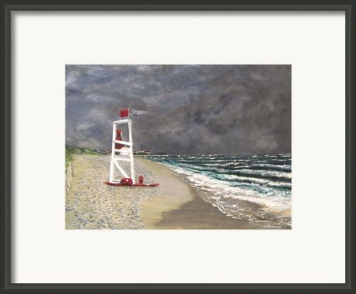 The Last Lifeguard Framed Print By Jack Skinner