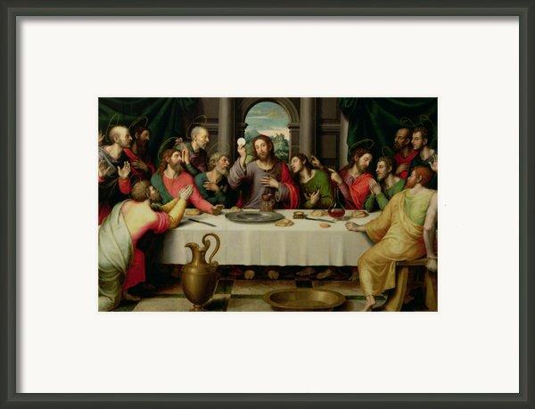 The Last Supper Framed Print By Vicente Juan Macip