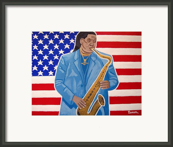 The Late Great Clarence Clemons Framed Print By Eamon Reilly