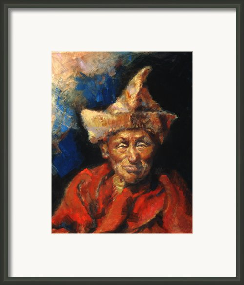 The Laughing Monk Framed Print By Ellen Dreibelbis