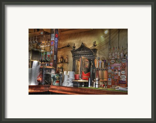 The Lazy Gecko Bar Key West Framed Print By Scott Bert