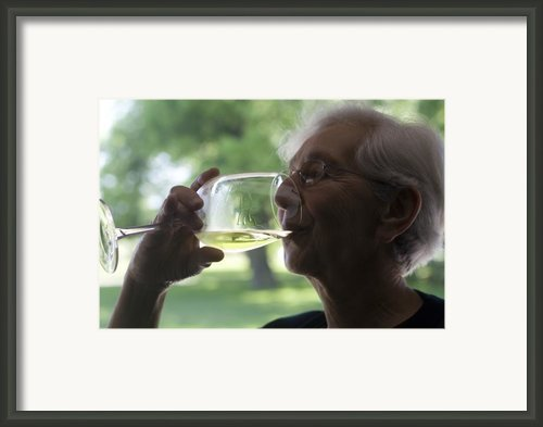 The Legs Of Wine Framed Print By Carl Purcell