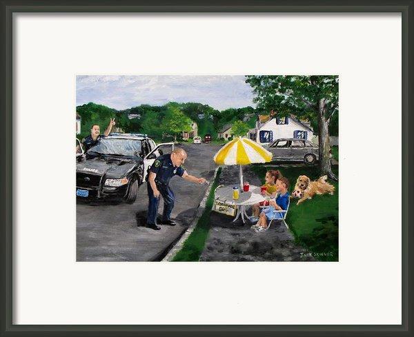 The Lemonade Stand Framed Print By Jack Skinner
