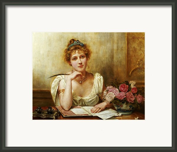 The Letter Framed Print By George Goodwin Kilbourne