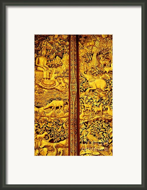 The Life Of Buddha Framed Print By Dean Harte