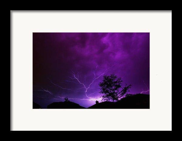 The Lightning Spread Framed Print By Lisa  Spencer