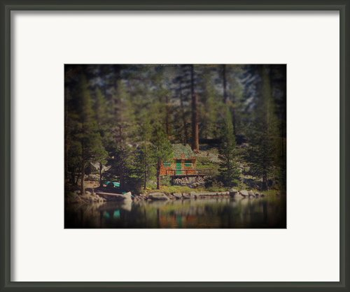 The Little Cabin Framed Print By Laurie Search