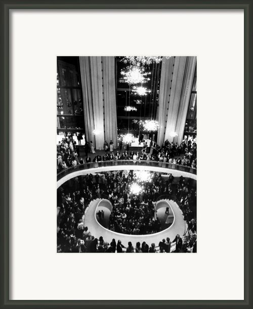 The Lobby Of The Metropolitan Opera Framed Print By Everett