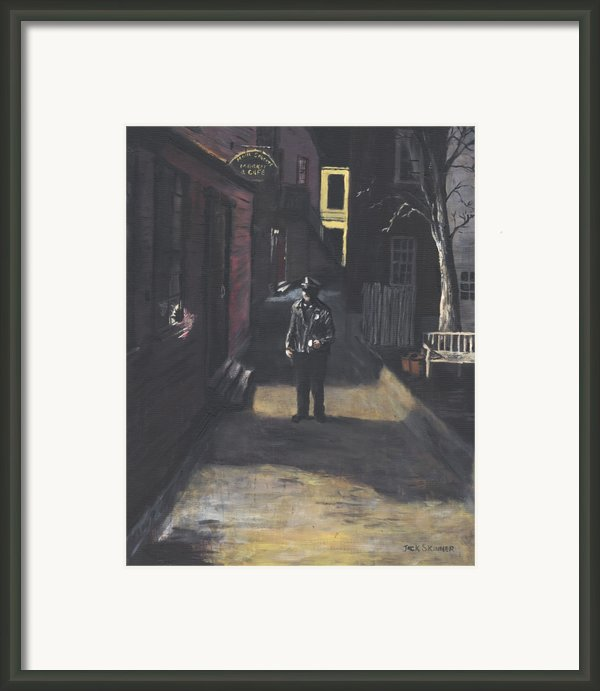 The Lonely Beat Framed Print By Jack Skinner