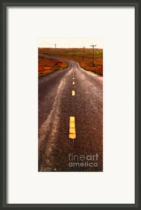 The Long Road Home . Painterly Style . Long Size Framed Print By Wingsdomain Art And Photography