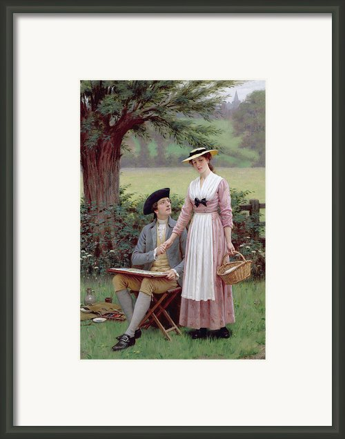 The Lord Of Burleigh Framed Print By Edmund Blair Leighton